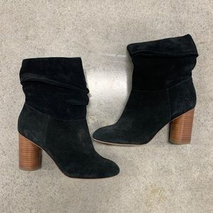 Sole Society black suede ankle booties